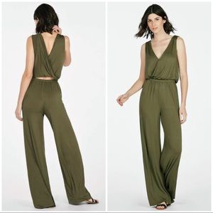 JustFab Size 2X Crossover Knit Jumpsuit